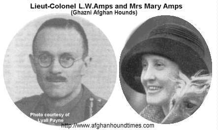http://www.afghanhoundtimes.comMajor-General L.W. Amps and Mrs Mary Amps - Ghazni Afghan Hounds UK, India, Afghanistan