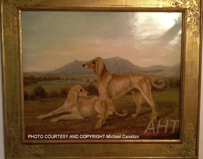 Afghan Hound Times - Hyland Painting 1888