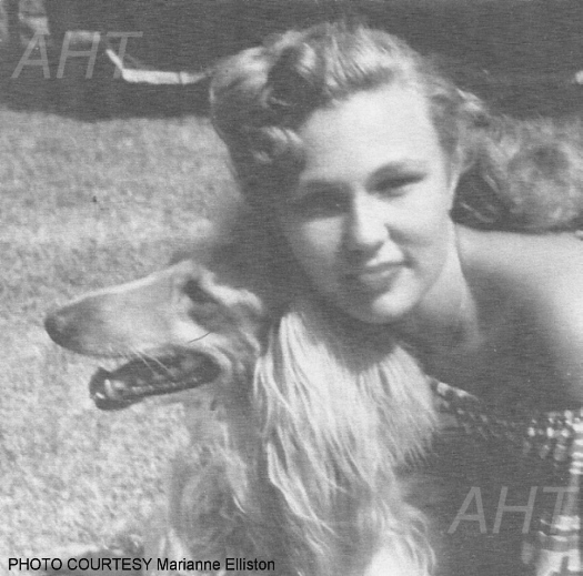 http://www.afghanhoundtimes.com PHOTO Joyce Morton with  Am Ch  El Mio Bambi Of Chamee 1944