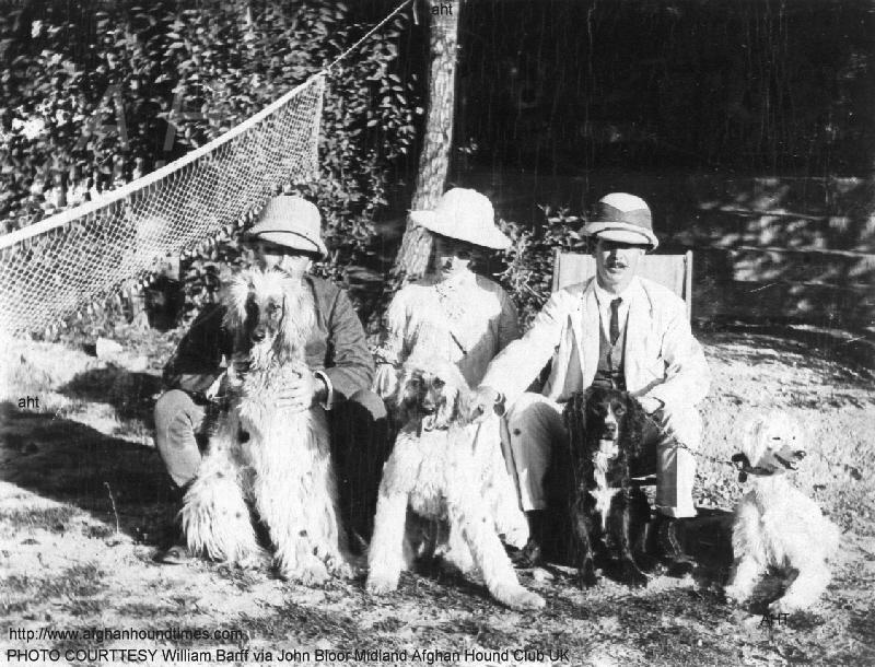 http://www.afghanhoundtimes.com PHOTO Capt and Mrs  Barff and friends and hounds in Cawnpore India